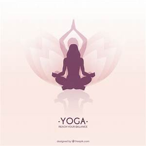 Woman meditating in a lotus yoga position Vector | Free ...