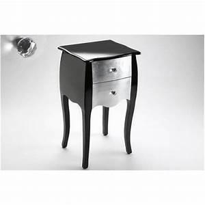 Meuble Baroque Pas Cher : table de chevet baroque 2 tiroirs noire et arge achat ~ Farleysfitness.com Idées de Décoration