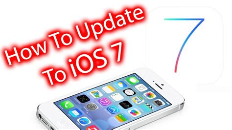 how to update and install ios 7 iphone ipod touch