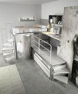 Chambre Fille Ado : chambre d ado moderne dz44 montrealeast ~ Teatrodelosmanantiales.com Idées de Décoration