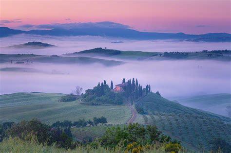 Fog In The Beautiful Val Dorcia In Tuscany Jim Nilsen