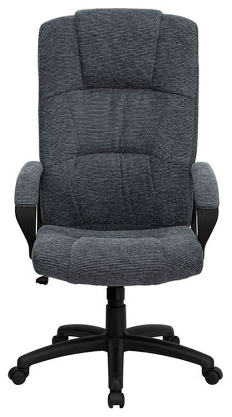 high back grey fabric executive office chair