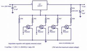 Lm317 Voltage Regulator Digitally Selected Output