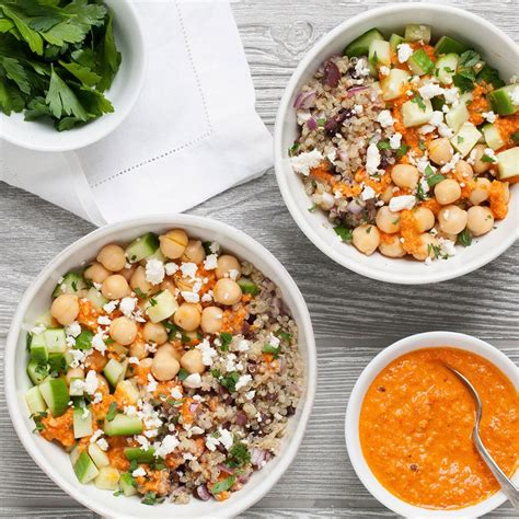 mediterranean chickpea quinoa bowl recipe eatingwell