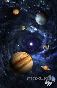3D Universe Galaxy Planets Sky Entire Living Room ...