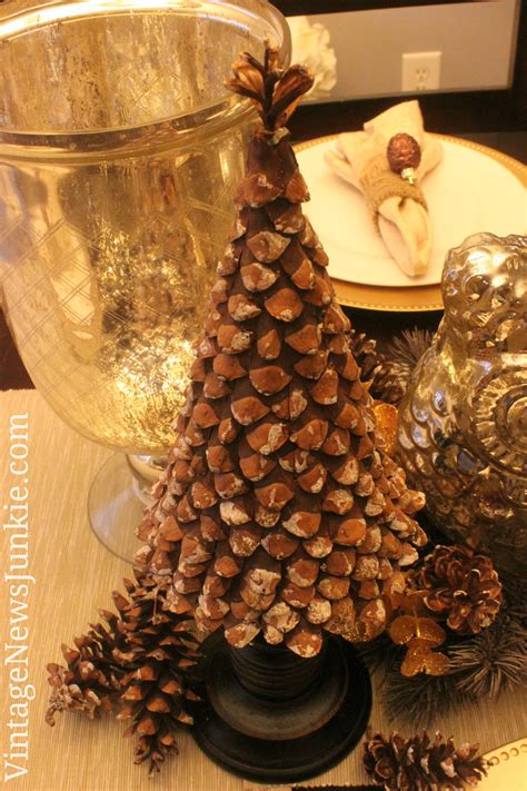 diy pinecone christmas tree from vintage news junkie