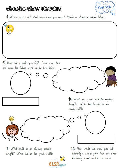 Pdf Positive Thinking Worksheets