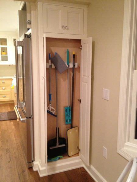 Kitchen Pantry Storage Cabinet Broom Closet by Broom Pantry Broom Cabinet Next To Fridge Our Pantry
