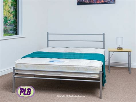 silver bed frame the celia silver bed frame metal frame easy assembly