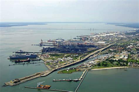 Newport News by Newport News Harbor In Newport News Va United States