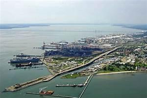 Newport News Harbor in Newport News, VA, United States ...