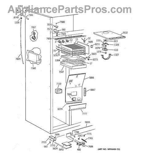 parts  ge zisbdyb freezer section parts appliancepartsproscom