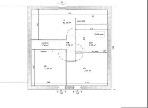 plan de maison 4 chambres avec 騁age plan maison etage 110m2