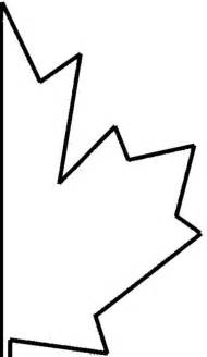 Maple Leaf Template Cut Out