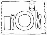 Coloring Placemat Table Clipart Preschool Activity Thanksgiving Activities Clip Manners Template Turkey Dining Setting Place Placemats Meal Mats Templates Cliparts sketch template
