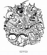 Mash Bologna Monster Behance Monsters Coloring Adult sketch template