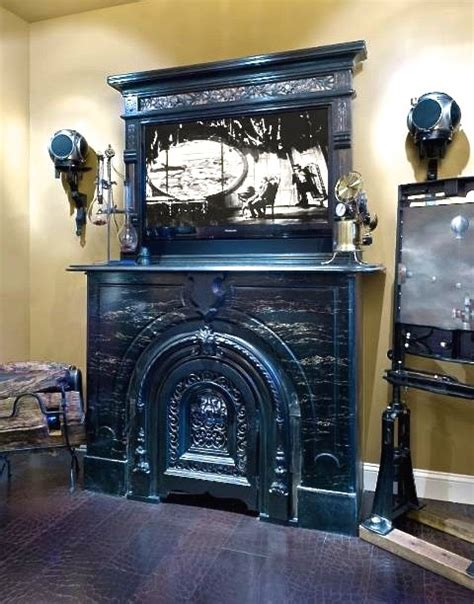 entertainment system with fireplace steunk style fireplace and entertainment system 7069