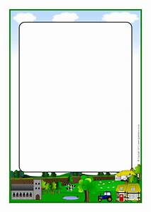 Countryside A4 Page Borders  Sb4413