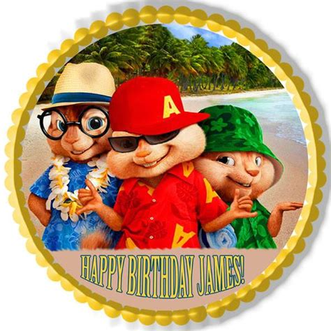 alvin and the chipmunks road chip 3 edible cake topper