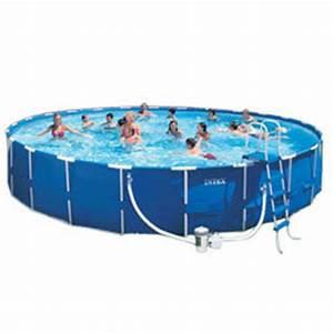 Piscine Tubulaire Oogarden : kit piscine metal frame 4m57 x 1m22 intex produit ~ Premium-room.com Idées de Décoration