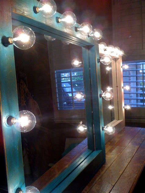 diy lighted mirror vintage light up mirror cribb eclairage