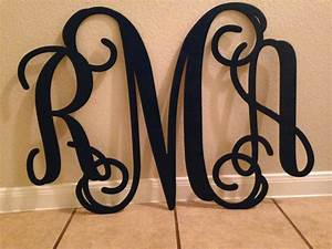 Wooden monogram home decor wall art initial by for Monogram wall decor