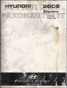 2002 Hyundai Elantra Repair Shop Manual Original