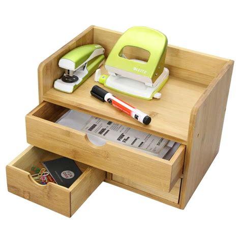 desk drawer organizer uk large bamboo desktop organiser by woodquail eco gifts