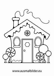 Ausmalbilder Lebkuchenhaus Weihnachtshuser Malvorlagen