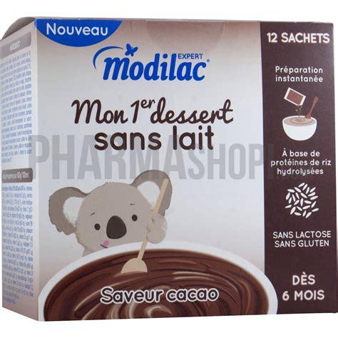 modilac mon 1er dessert sans lait saveur cacao modilac bo 238 te de 12 sachets