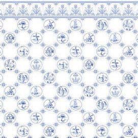 wallpaper dutch tile blue  white jm