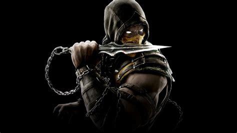 Scorpion Mortal Kombat Wallpaper Scorpion Mortal Kombat X On Black Background