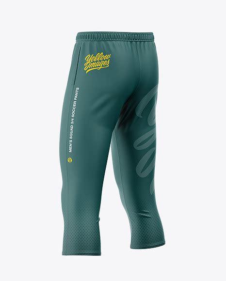 You can easily change the color of. Men's Three Quarter Soccer Pants Mockup - Back Half-Side ...