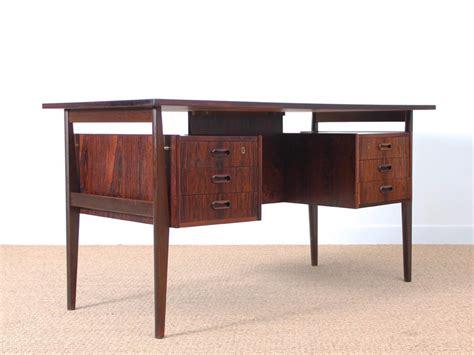 bureau palissandre bureau scandinave en palissandre de galerie møbler