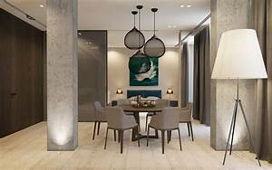 luxury home design 3 inspirational projects With simple kitchen and dining room design