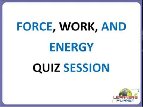 class 4 science force work and energy questions answers youtube