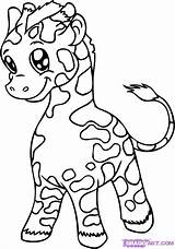 Coloring Pages Cute Giraffes Giraffe Printable sketch template