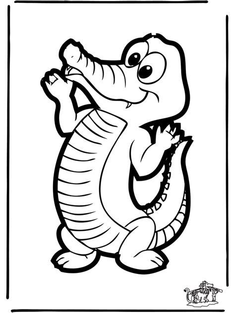 Krrrr Okodil Kleurplaat by Disegno Da Bucherellare Coccodrillo Animali