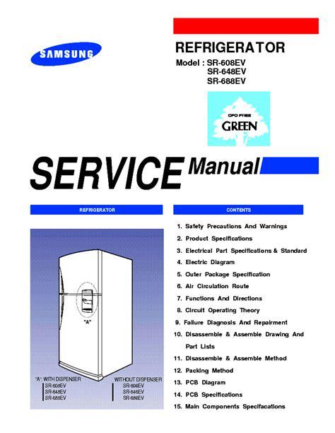 samsung sr 608ev sr648ev sr688ev service manual