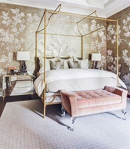 24 Modern Rose Gold Wallpaper Design Ideas For Your Classy Bedroom