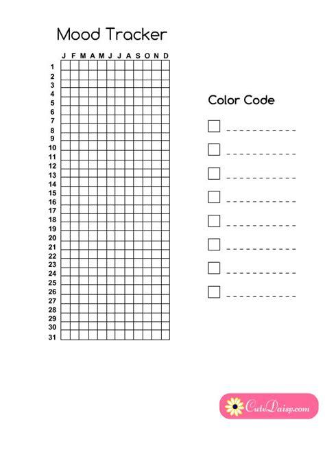 printable year  pixels mood tracker  planner