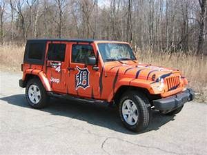 Tiger Striped Jeep Wrangler