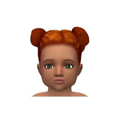 Hair Toddler Sims Leeleesims1 Hairstyles Bun Cc
