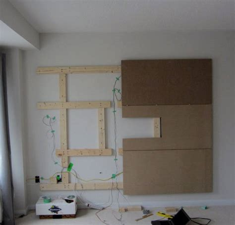 wall shelves tv diy floating wall how to build a bachelor pad tv stand Floating
