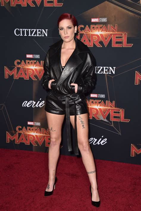 halsey captain marvel premiere  hollywood