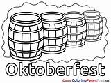 Coloring Pages Barrels Beer Printable Oktoberfest Sheet Sheets Title sketch template