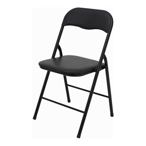 marquee padded vinyl black folding chair ideas