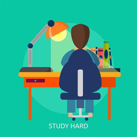 Study Hard Conceptual illustration Design 443353 - Download Free Vectors, Clipart Graphics ...