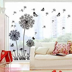 Pflanzen Für Flur : wandsticker4u wandtattoo pusteblumen schwarz wandsticker l wenzahn wandaufkleber blumen 3d ~ Bigdaddyawards.com Haus und Dekorationen
