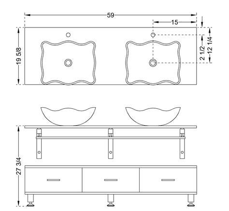 Average Bathroom Countertop Depth by Modern Glass Vanity Clear Horizon Three Drawer Bathroom